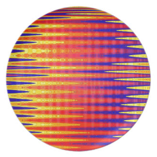 Pulse in bright abstract colours. plate