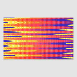 Pulse in bright abstract colours. rectangular sticker