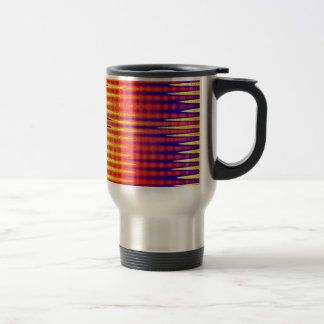 Pulse in bright abstract colours. travel mug