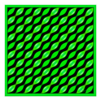 Pulsing Green Leaves Poster