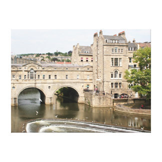 Pulteney Bridge, Avon River,Bath, England Gallery Wrap Canvas