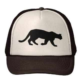 Puma Mountain Lion Cougar Silhouette Cap