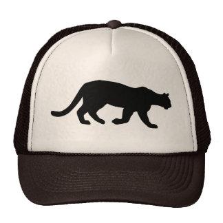 Puma Mountain Lion Cougar Silhouette Mesh Hats