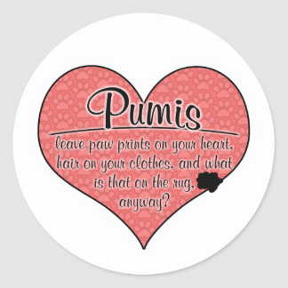 Pumi Paw Prints Dog Humor Sticker