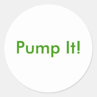 Pump It! Round Sticker