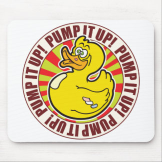 Pump It Up Duck Mouse Pad