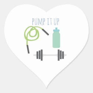 Pump it up heart sticker