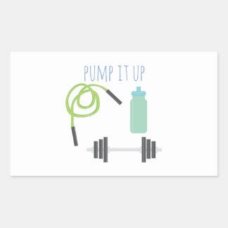 Pump it up rectangular sticker