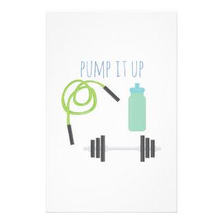 Pump it up stationery