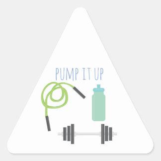Pump it up triangle sticker