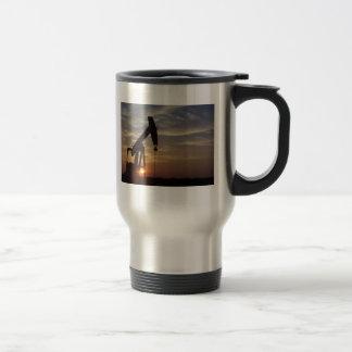 Pump Jack at Sunset Travel Mug.