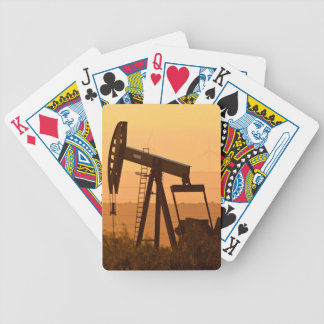 Pump Jack Pumping Oil In West Texas, USA Bicycle Playing Cards