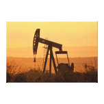 Pump Jack Pumping Oil In West Texas, USA Canvas Prints