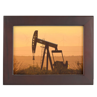 Pump Jack Pumping Oil In West Texas, USA Keepsake Boxes