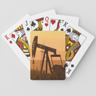 Pump Jack Pumping Oil In West Texas, USA Playing Cards