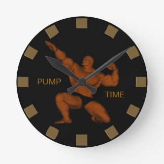 Pump Time Bodybuilder Wall Clock
