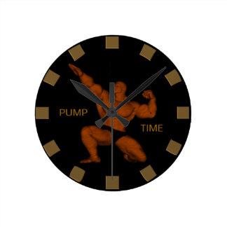 Pump Time Bodybuilder Wall Clock