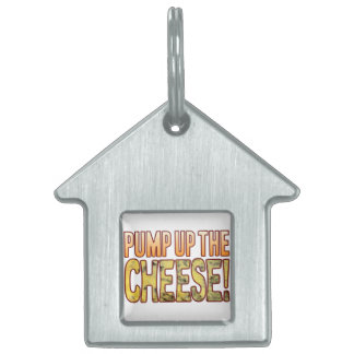Pump Up Blue Cheese Pet Name Tag