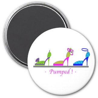 PUMPED ! 7.5 CM ROUND MAGNET