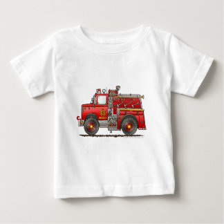 Pumper Rescue Fire Truck Firefighter Baby T-Shirt