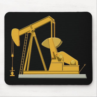 pumpjack black mouse mat