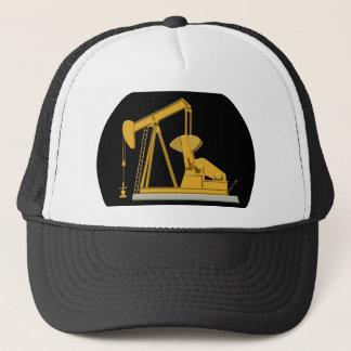 pumpjack keychain trucker hat