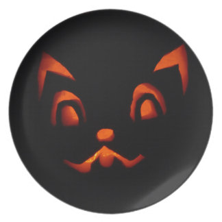 pumpkin-266233 pumpkin autumn fall SCARY BLACK ORA Plate