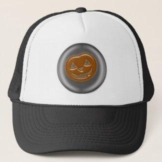 Pumpkin 3D Halloween Cartoon Trucker Hat