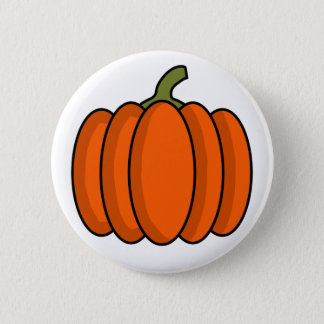 Pumpkin 6 Cm Round Badge