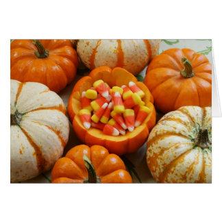 Pumpkin and Candy Corn Greeting Card