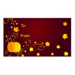 Pumpkin and leaves - Gifttag Business Card Templates