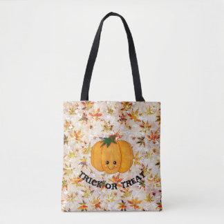 Pumpkin and leaves Trick or Treat Tote Bag