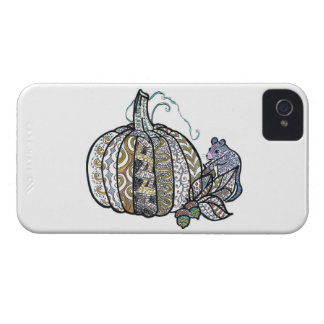 Pumpkin and Mouse - Pen and Ink Design iPhone 4 Case-Mate Case