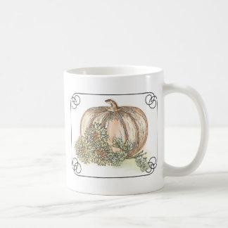 Pumpkin and Mums Mugs
