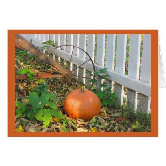 Pumpkin and Plough Card