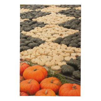 Pumpkin and squash pattern, Germany Wood Prints
