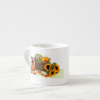 Pumpkin and Sunflowers Espresso Cup