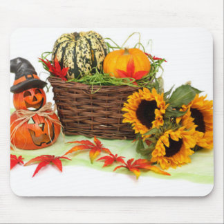 Pumpkin and Sunflowers Mouse Mat