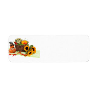 Pumpkin and Sunflowers Return Address Label
