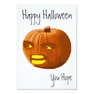 Pumpkin Angry: Happy Halloween - You Hope 9 Cm X 13 Cm Invitation Card