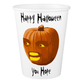 Pumpkin Angry: Happy Halloween - You Hope Paper Cup