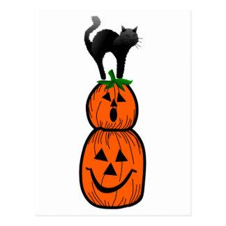 Pumpkin Applique Postcard