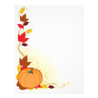 Pumpkin Autumn Border 21.5 Cm X 28 Cm Flyer