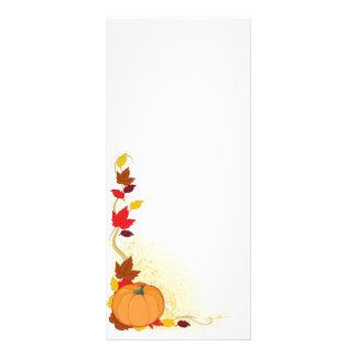 Pumpkin Autumn Border Custom Rack Card