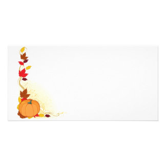 Pumpkin Autumn Border Picture Card
