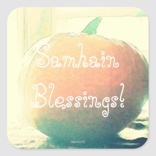 Pumpkin Autumn Harvest Samhain Blessings Stickers