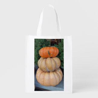 Pumpkin Autumnal Reusable Bag