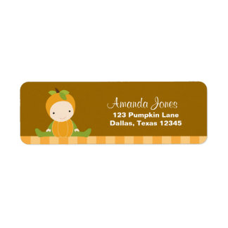 Pumpkin Baby Return Address Labels