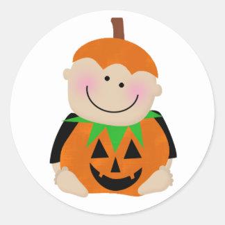 Pumpkin Baby Round Sticker