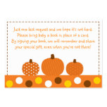 Pumpkin Baby Shower Book Request Cards Pack Of Chubby Business Cards